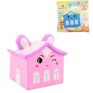 Sunny Squishy Bear House 8 * 11 * 8,5cm långsammare med Packaging Collection Present Soft Toy