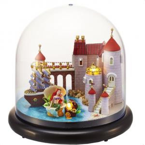 Cuteroom Dockhus Miniature Castle DIY Kit med lock och LED
