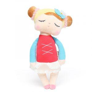 Metoo Angela Lace Dress Rabbit Fylld 33cm Plush Dockas Toy För Barn Girl barns