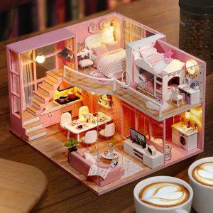Cuteroom L026 Dream Angle DIY Dockhus Med Möbler Ljus Present House Toy 24.5cm