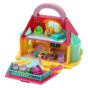 Avtagbar Handhållen DIY 2-vånings radhushus House Dockhus barn barn Toy
