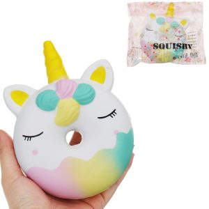 Donut Squishy 16 * 11,5 cm långsammare med Packaging Collection Present Toy