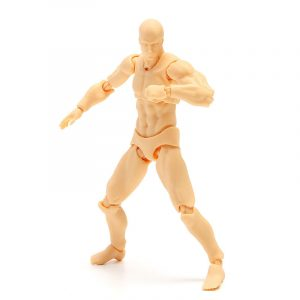 Anime Clear Crystal Archetype Action Figur 2.0 Docka Man Skin Color DIY Action Figur Modell Toy