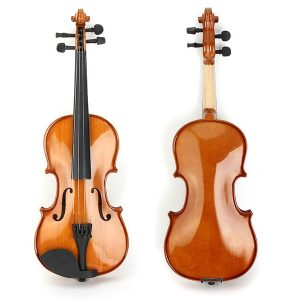 Deviser V-80 Gran Solid Top 1/2 1/4 Violin med Case Rosin Bow