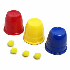 Kingmagic Tre Balls Return Cups Magic Toy Magic Props G0595