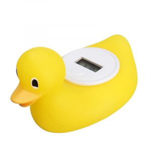 Digital Baby Bath Termometer Vatten Sensor Safety Duck Flytande Toy Bad Fun