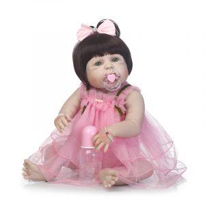 NPK 23 tums mjukduk Body Silicone Reborn Baby Livlig Baby Dockas Bebe Alive Docka Julklappar