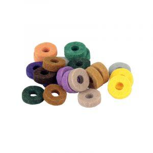 20st Drum Kit Färgrikt Cymbal Felt Pad Protection Effekt för trumslagverk