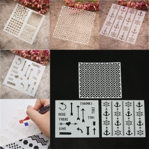 4 Design Stencils Mall DIY Scrapbooking Paper bild Craft Painting Tool