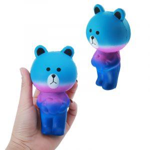 Star Bear Squishy 12cm långsammare mjukt djur samling present inredning leksak