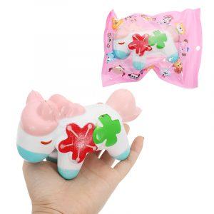 Fyra bladhäst Squishy 14cm långsammare med Packaging Collection Present Soft Toy