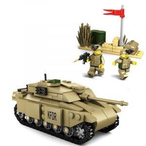 296st Tank Team Bygga Blockera Uppsättning pedagogisk Fidget Leksaker