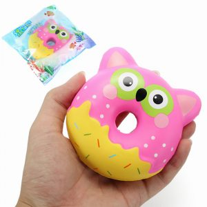 Squishy Factory Owl Donut 10cm Mjukt Långsam Rising Med Packaging Collection Present Decor Toy