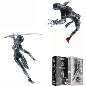 2 st Black Docka Action Figur Archetype Docka PVC Movable Hand Model Docka Toy