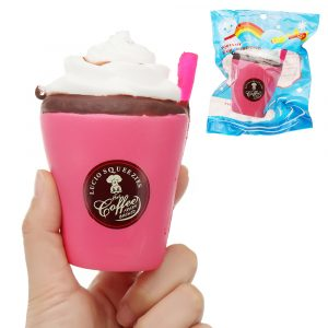 Strawberry Ice Cream Cup Squishy 12cm långsammare med Packaging Collection Present Soft Toy
