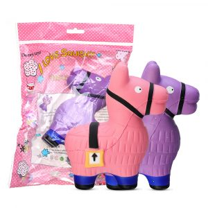 Donkey Squishy 14,4 * 13,3 cm Mjukt långsamt stigande med Packaging Collection  Leksaker