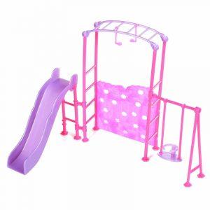 Slide Swing Set Tillbehör Dockhus Doll Möbler