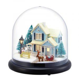 CuteRoom B025 Nordic Fairy Tale DIY Dockhus Med Möbler Ljus Musik Present House Toy