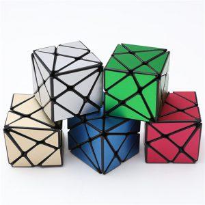 Classic Magic Cube Leksaker PVC Klistermärke Block Pussel Speed Cube Sockerfärg Oregelbunden Form