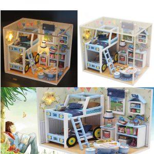 DIY trä manuell montering pussel modell stjärna berättelse leksaker för barn barn födelsedagspresent