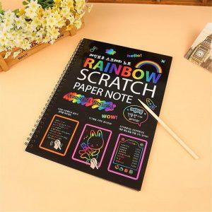 Fun DIY 26cm Stor Storlek Doodling Scratch Painting Papper Blow barnren pedagogisk Leksakers