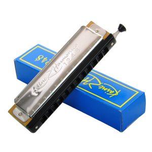 Kaine.Z 12 hål 48 toner C nyckelkromatisk harmonik för nybörjare KZ1248