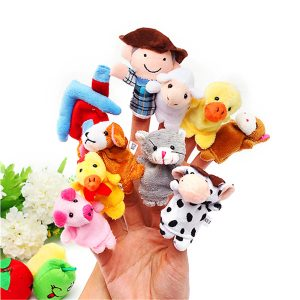 10 PC Family Finger Dockaett Cloth Docka Baby Pedagogiska Hand Toy