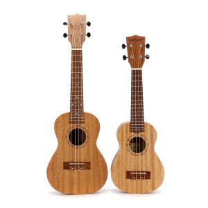 21 23 tum 4 String Ukulele Mahogany Ukulele Guitar med väska