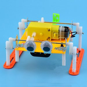 DIY Walking RC Robot Toy STEAM Utbildnings Kit Present For barn barnren