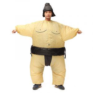 Sumo uppblåsbara kostym karnevalparty Fancy djurkläder för vuxna Gratis frakt