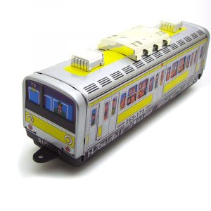 Classic Vintage Clockwork Subway Train Wind Up Reminiscence Barn Barn Tennleksaker med nyckel