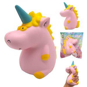 Areedy Squishy Baby Unicorn Hippo 14cm * 10cm * 8cm Licensierad Super Slow Rising Cute Pink Scented Original Paket