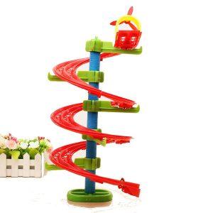 Hoppa Bönor Spiralitet Form  Järnväg DIY Bygga Blockerar Utbildning Leksak