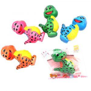 Squishy Dinosaur Slumpmässig Färg 12.5 * 8 * 5.5cm långsam stigande leksak med packningspåse
