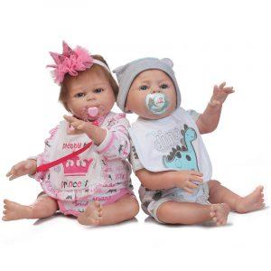 "19.5 ""Handmade Silicone Reborn Boy Body Lovely Dockas Nyfödda Baby Vinylleksaker"