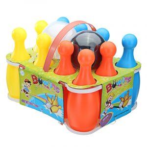 12st Set 23cm Höjd Rolig Stor Bowlingflaska Med Bollar Pins För Barn Barn Sport Leksaker