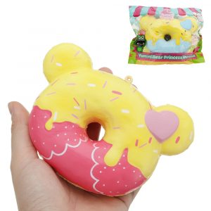 Yummiibear Creamiicandy Princess Donut Squishy 12cm Licensierad Slow Rising Med Packaging Collection Present