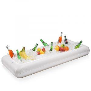 Uppblåsbara Float Beer Sommarvatten Pool Party Ice Bucket Tray Mat Dryckhållare 24,5 * 51,5 * 5,5 tum