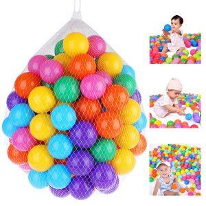 100st Soft Plastic Ocean Ball 7cm Kvalitet Säker Baby Kid Pit Toy Swim Färgglada Bolllekar