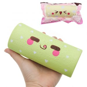 SquishyFun Squishy Egg Swiss Roll Toy 14,5 * 6 * 5cm långsammare med Packaging Collection Present Soft Toy