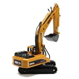 HUINA 1:50 Alloy Excavator Diecast Modell Hög Simulering Engineering Grävmaskin Barn Leksaker