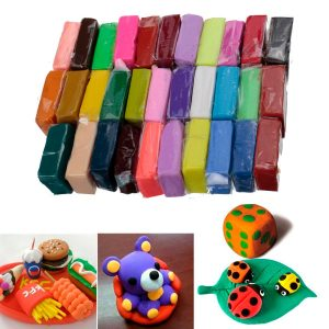 32 färger Polymer Clay Fimo Blockmodellering Molding Sculpey DIY Toy 5 Tools