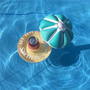 Uppblåsbara dryck kan hållas flytande paraplyform ölkopp kan hållare pool badstrand fest dekor