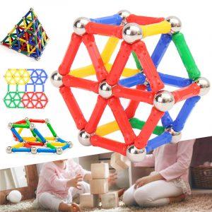 103st  Magnetiska pinnar   Pedagogiska  Byggblockerar  Barn Leksaker