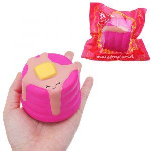 Gullig tårta Squishy 8 CM långsammare med Packaging Collection Present Soft Toy