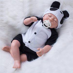 "Handgjorda Reborn docka-20 ""Lifelike Nyfödd Silikonvinyl Reborn baby docka"