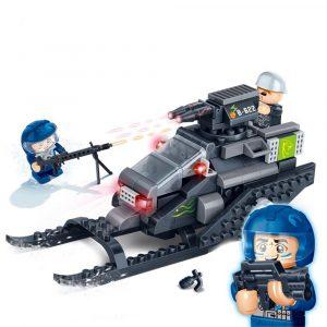 Tank Pedagogiska Bygga Tegelstenar  Pussel  Blockera  Leksake