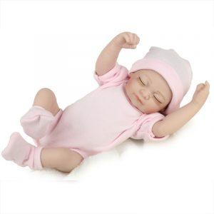 Docka Reborn Silicone Handgjorda levande Baby Girl Docka Realistisk nyfödd leksak