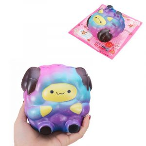 SquishyShop Slumpmässigt Galaxy Sheep Squishy Lamb 10.5cm Sweet Soft Slow Rising Collection Present Decor Toy