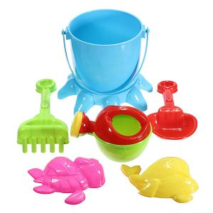 7 st barns Octopus Bucket Spade Rake Pot Sand Water Beach Tools Toy